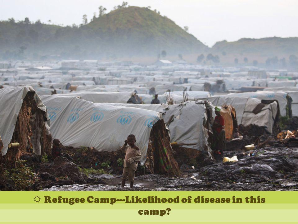  Refugee Camp---Likelihood of disease in this camp?