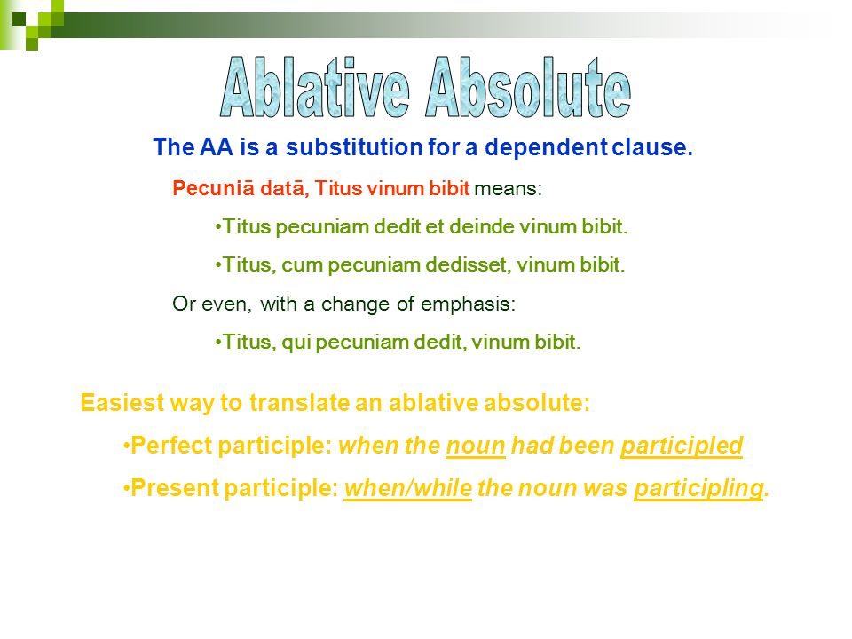The AA is a substitution for a dependent clause.