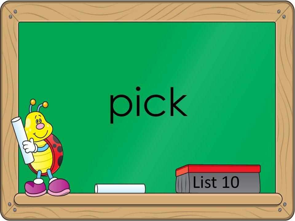 pick List 10