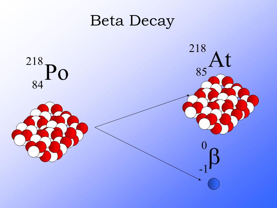 Beta Decay Po 218 84  0 At 218 85