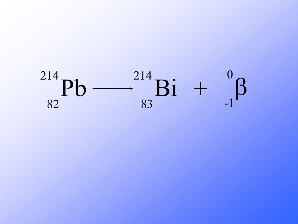 Pb 214 82 Bi 214 83 +  0