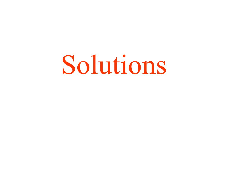 12.1 A solution is a homogenous mixture of 2 or more substances The solute is(are) the substance(s) present in the smaller amount(s) The solvent is the substance present in the larger amount