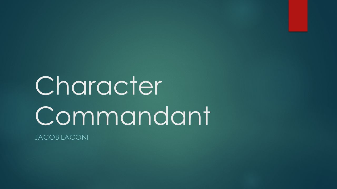 Character Commandant JACOB LACONI