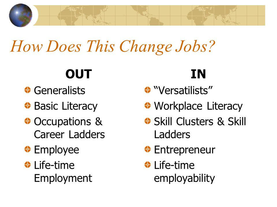 How Does This Change Jobs.