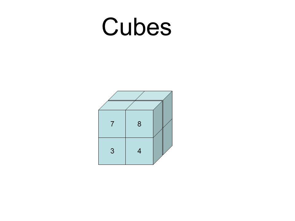 12 34 56 78 Cubes