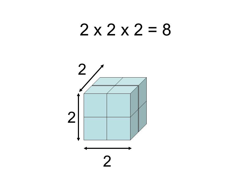 2 2 2 2 x 2 x 2 = 8