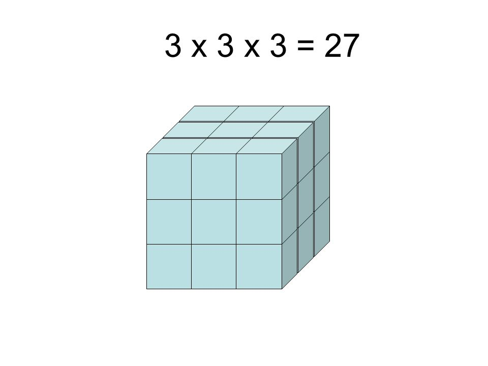 3 x 3 x 3 = 27