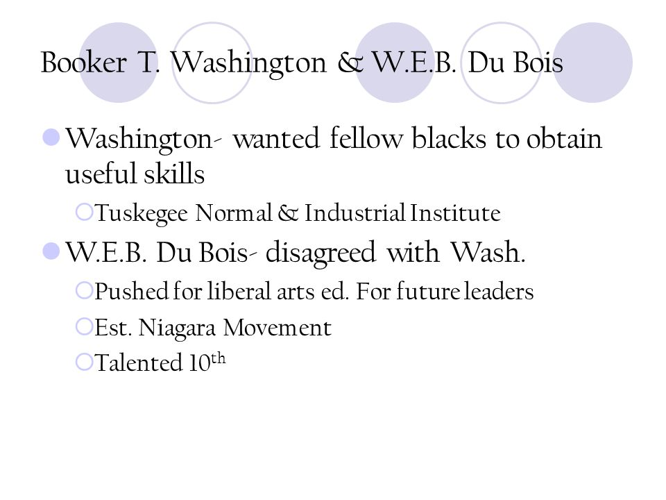 Booker T.Washington & W.E.B.