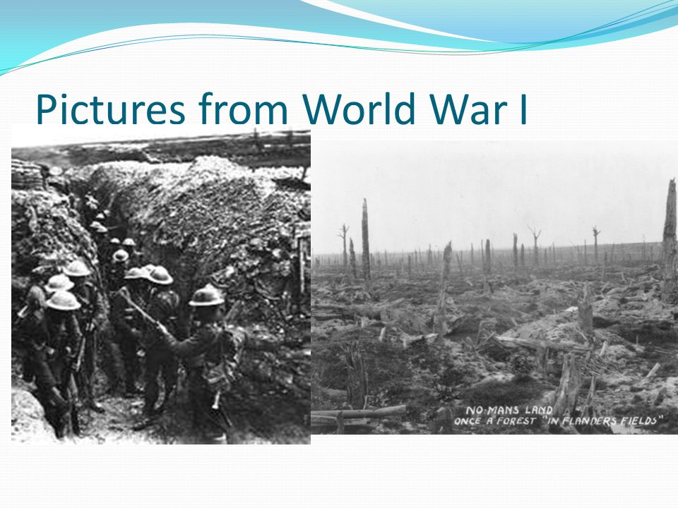 Pictures from World War I
