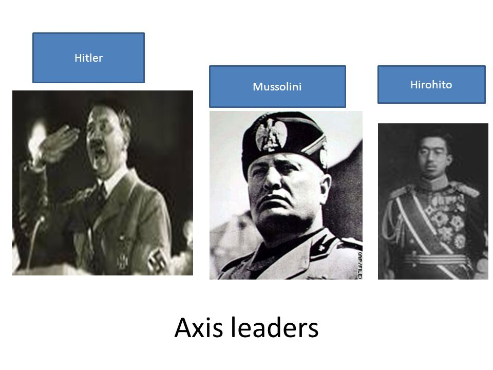 Axis leaders Hitler Mussolini Hirohito