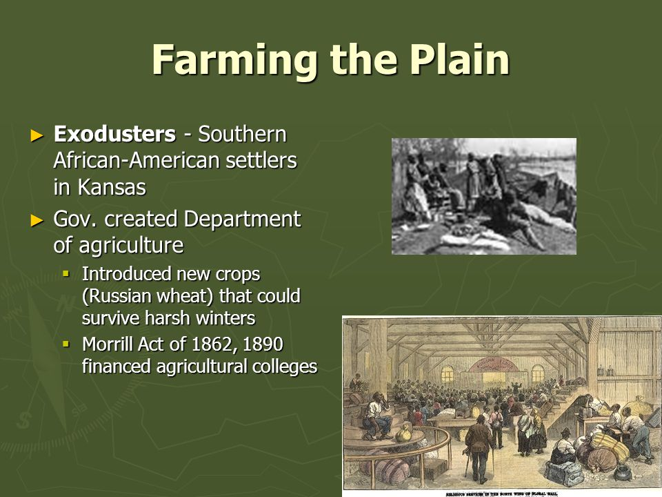 Farming the Plain ► Exodusters - Southern African-American settlers in Kansas ► Gov.