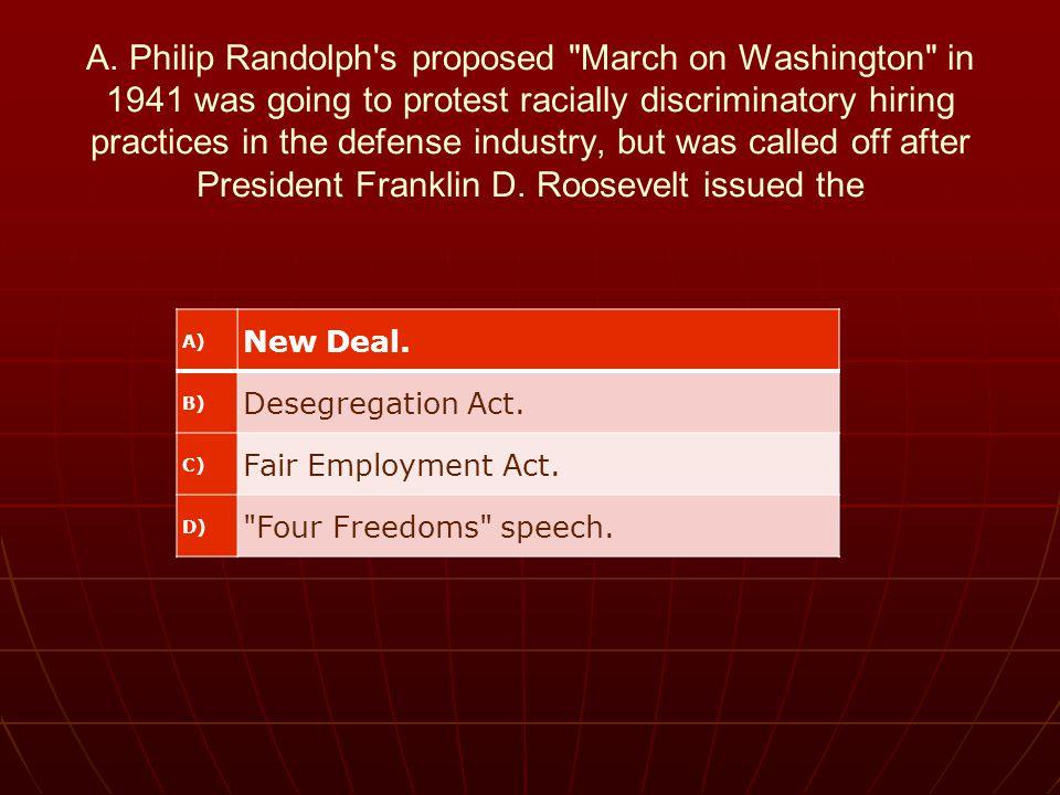 A. Philip Randolph's proposed