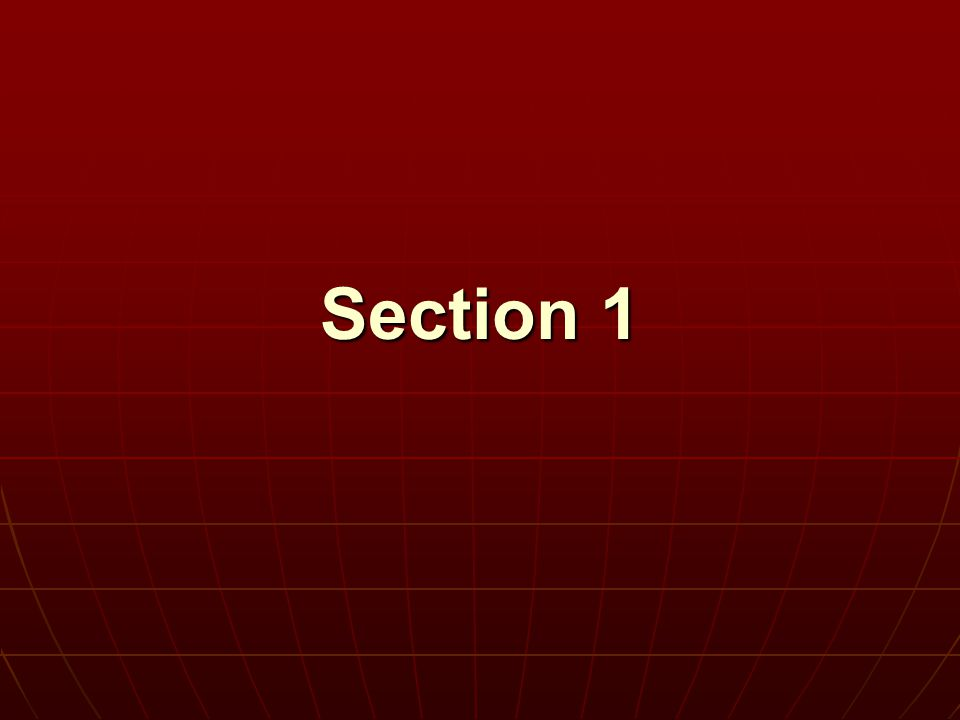 Section 1