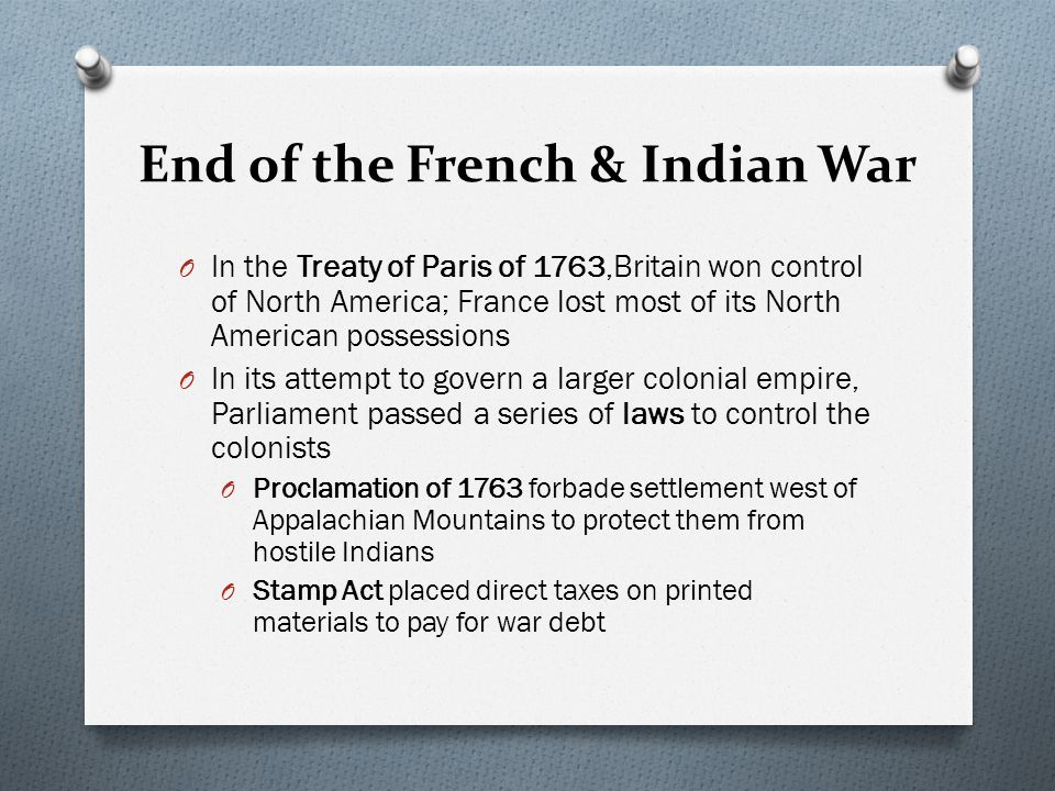 Causes of the American Revolution Standard 3 French & Indian War O The French & Indian War broke in 1754 when Great Britain challenged the French for control of the land that is now Ohio and western Pennsylvania.