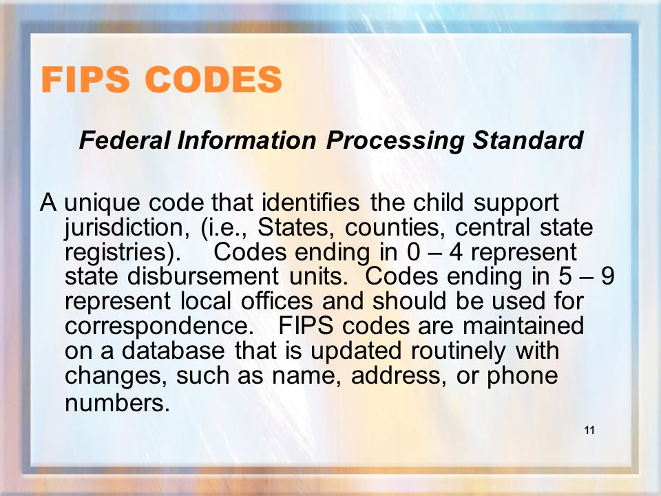 10 UIFSA TYPE EXPLANATION OF CODES 1.II - UIFSA INITIATING For paternity and/or establishment of an order when the NCP lives in another state 2.IN - IN-STATE NON-URESA Use when no other IV-D Agency involved in case 3.IR - UIFSA RESPONDING Use when GA receives a request from another state and NCP lives in GA 4.IU - IN-STATE URESA No longer needed, may be valid for older cases.