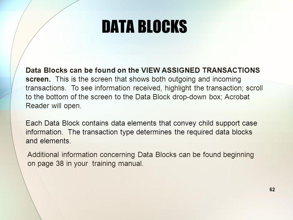 61 UNLOCKING THE CSENET CODES DATA BLOCKS