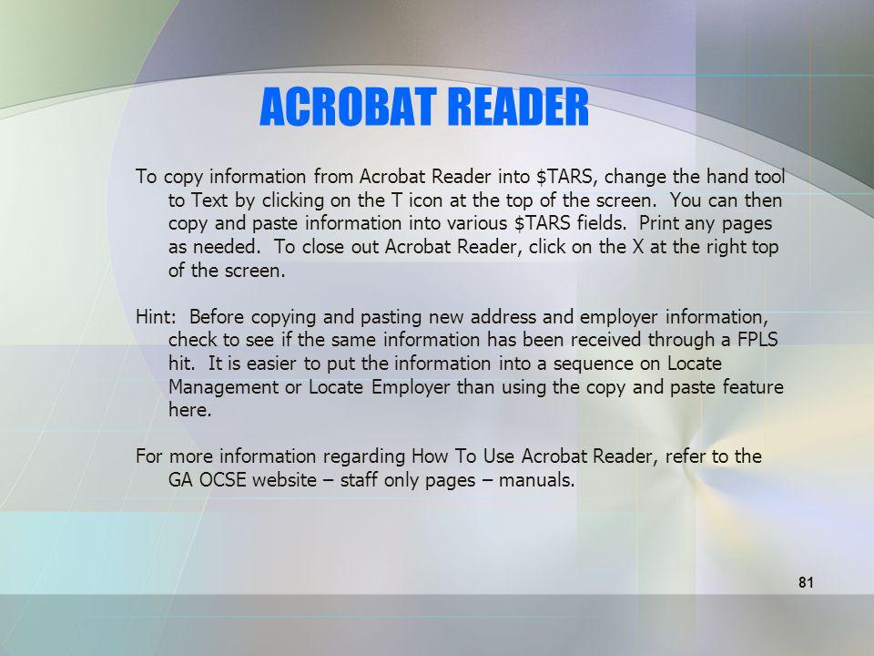 80 ACROBAT READER