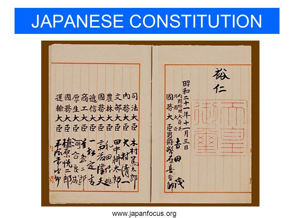 www.japanfocus.org JAPANESE CONSTITUTION