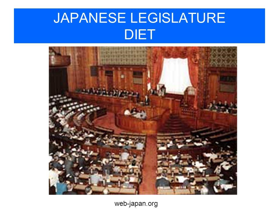 web-japan.org JAPANESE LEGISLATURE DIET