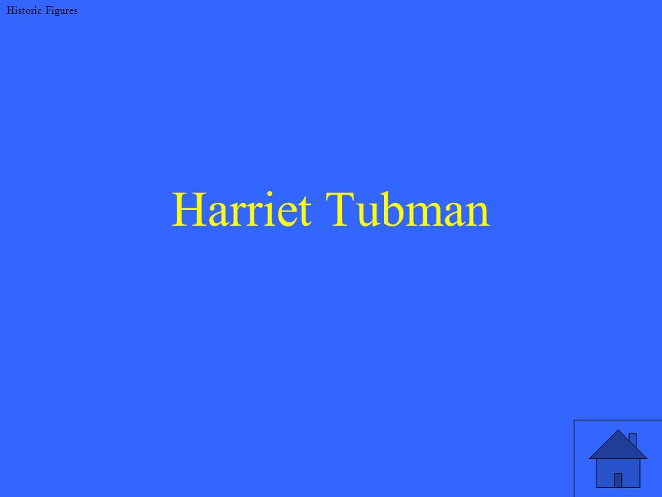 Harriet Tubman Historic Figures