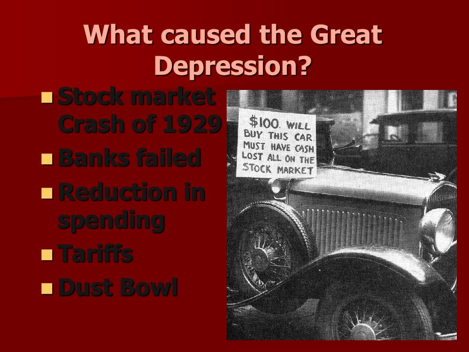 What caused the Great Depression.