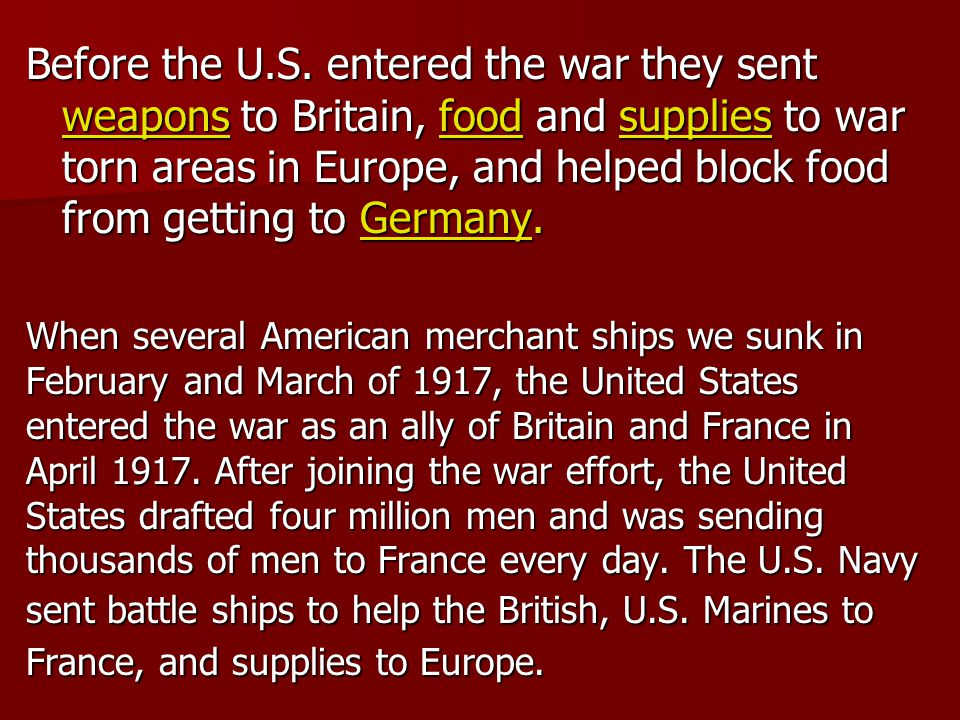 The U.S.soldiers reached Europe in 1918.
