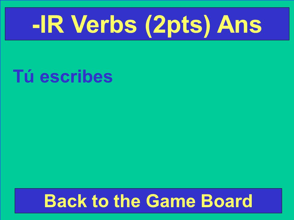 Conjugate the following verb according to the subject pronoun.