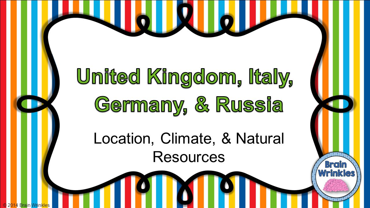 Location, Climate, & Natural Resources © 2014 Brain Wrinkles