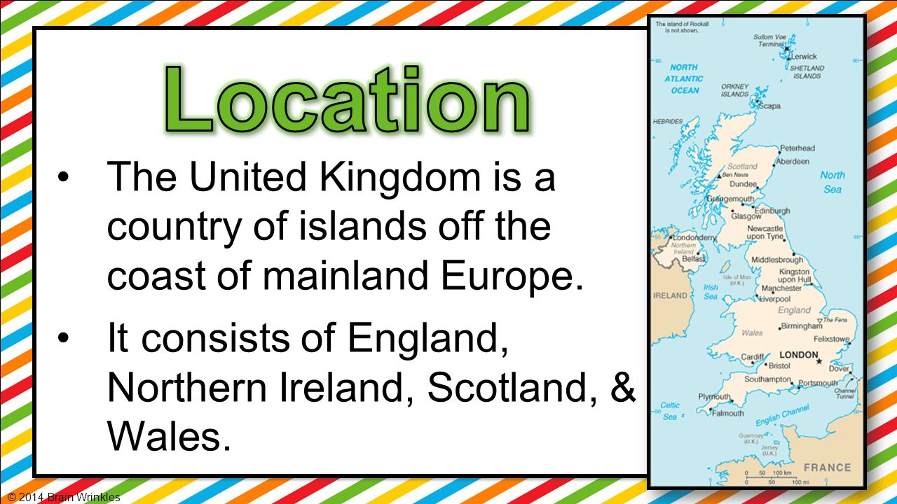 UK's location makes it a hub for trade.