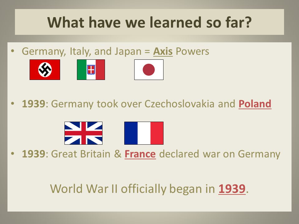 What have we learned so far.