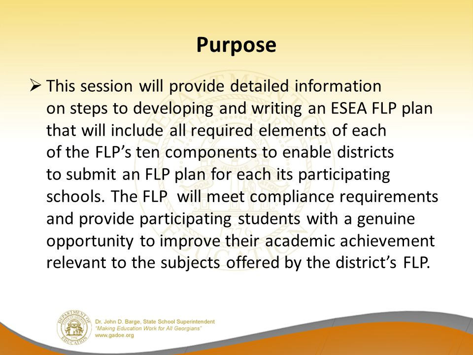Flexible Learning Program (FLP)  All data must be entered into the FLP Plan tab of the Consolidated Application.