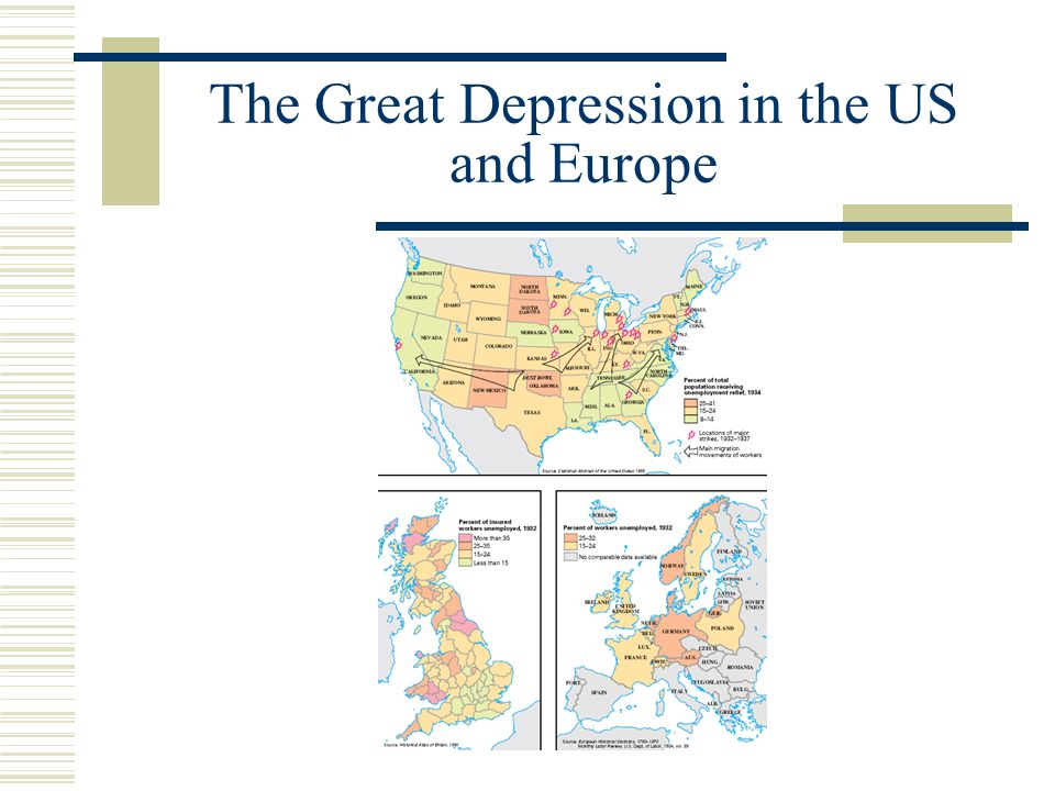 The Great Depression  The United States Expanded role of federal government The New Deal under Franklin Roosevelt