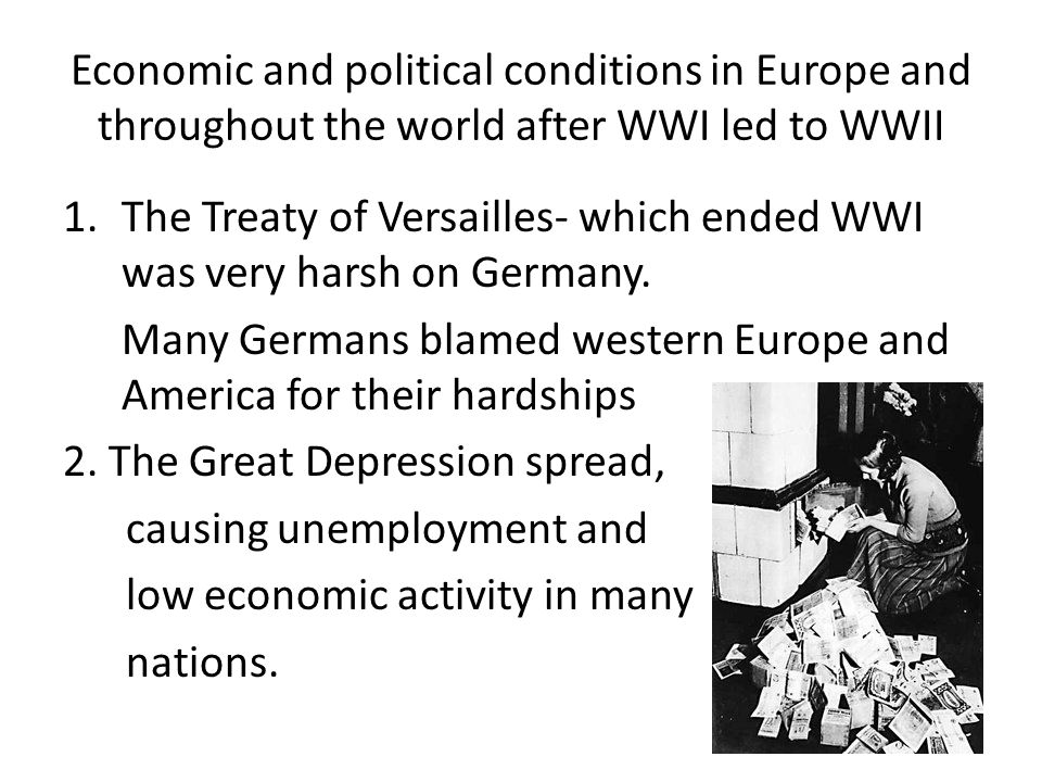 the political and economic chaos that the treaty of versailles brought on germany