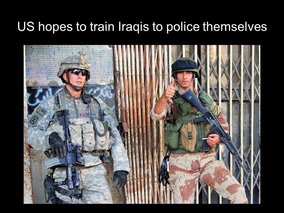 US hopes to train Iraqis to police themselves