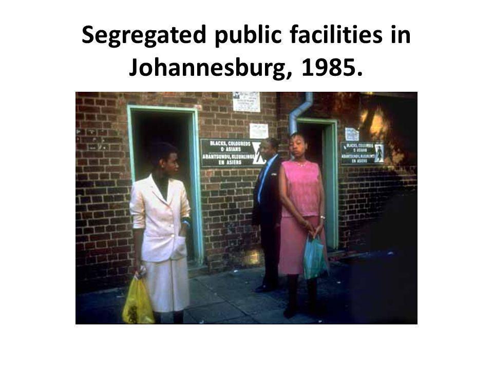 Segregated public facilities in Johannesburg, 1985.