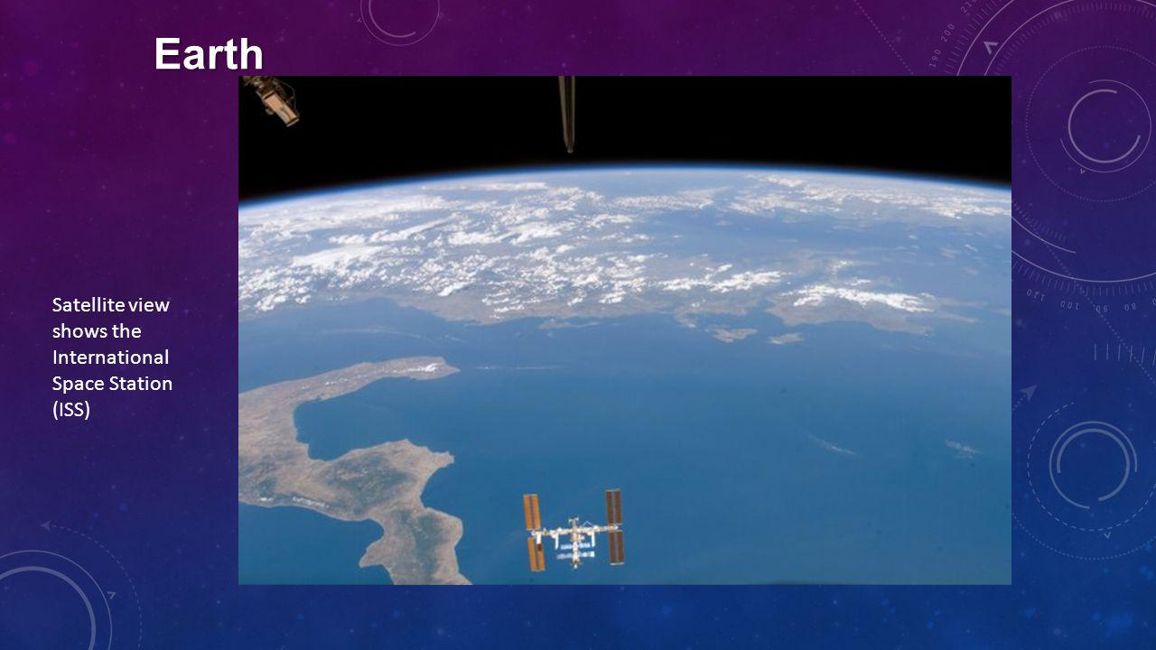 Earth Satellite view shows the International Space Station (ISS)