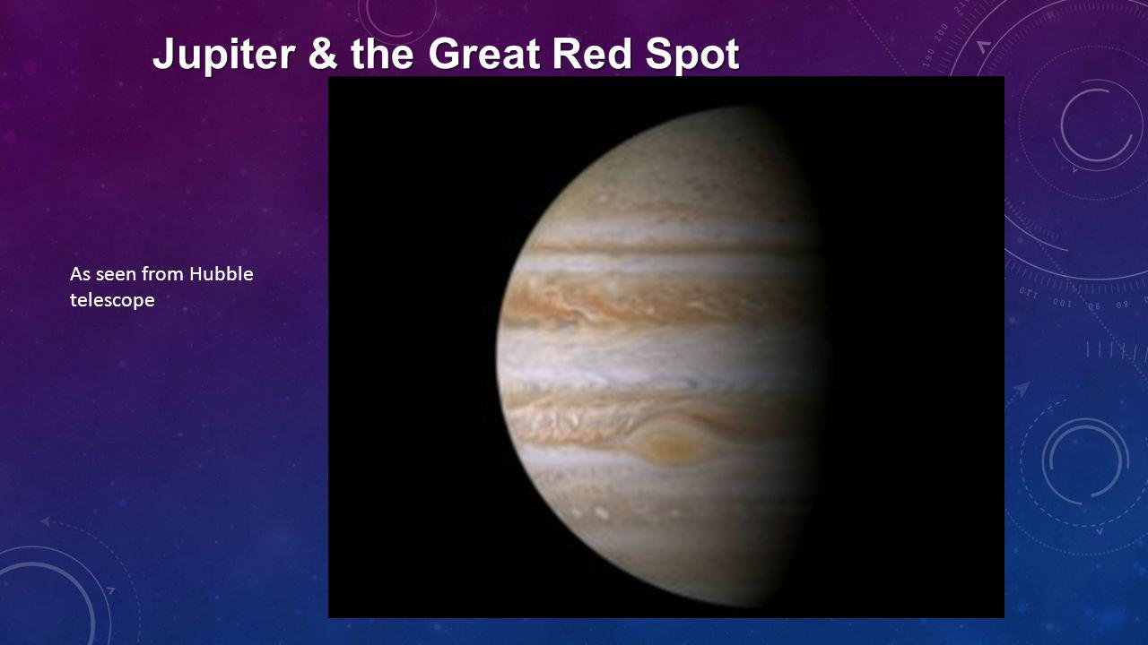Jupiter & the Great Red Spot As seen from Hubble telescope