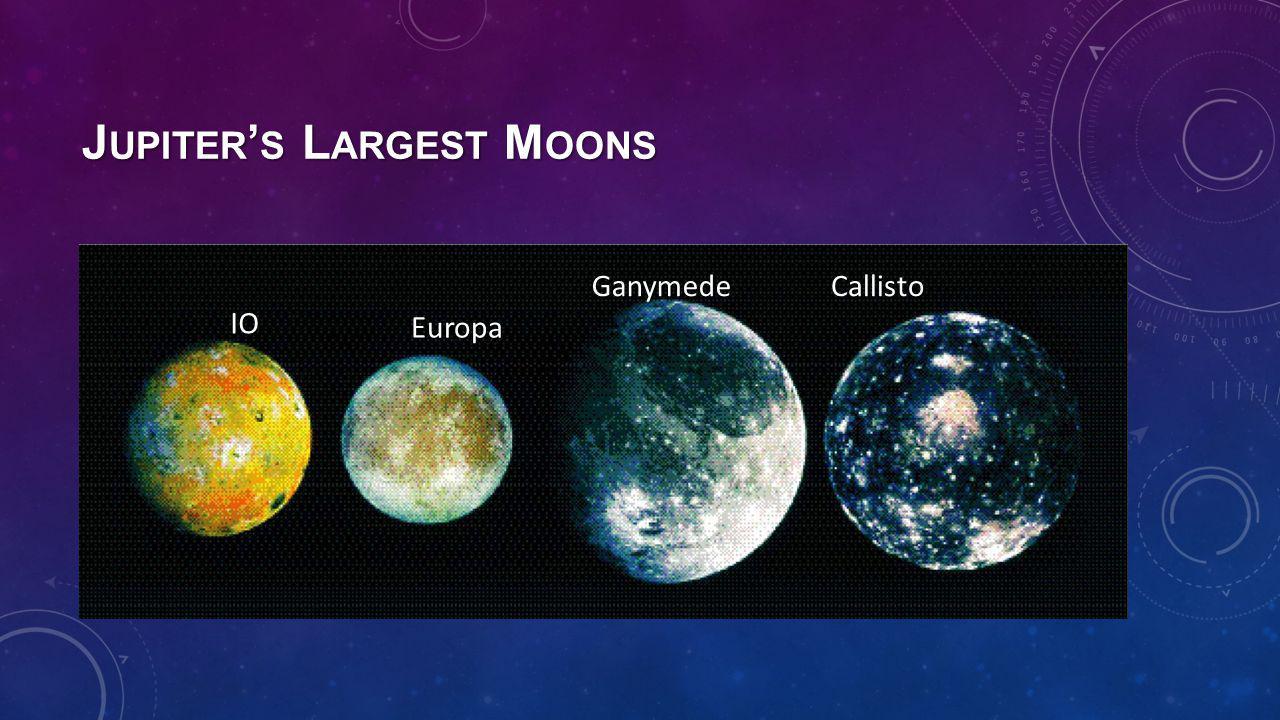 J UPITER ' S L ARGEST M OONS IO Europa CallistoGanymede