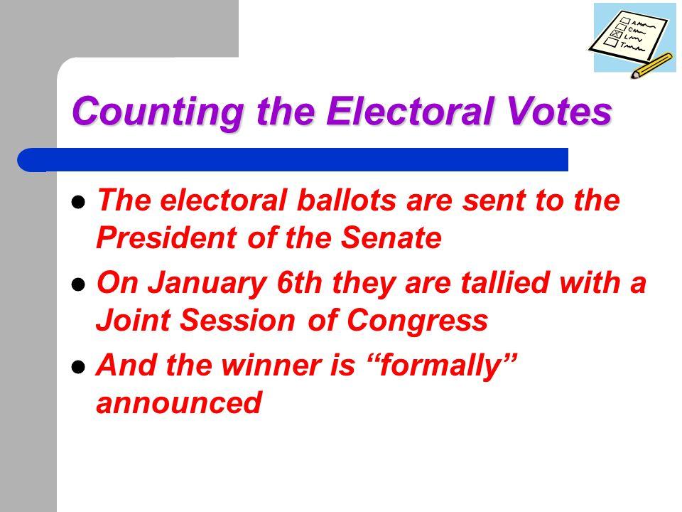 Electoral Votes Recap