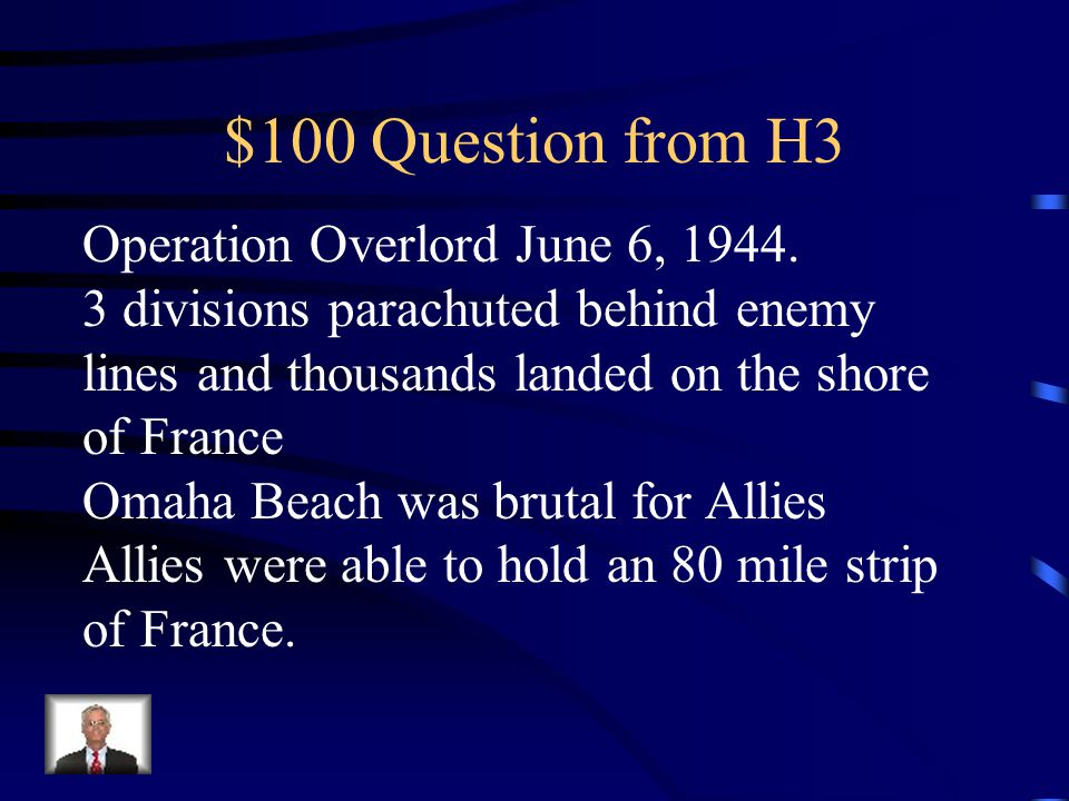$500 Answer from H2 Cold War