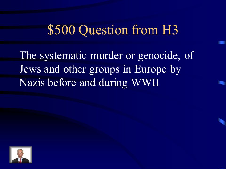 $400 Answer from H3 Lend-Lease Policy