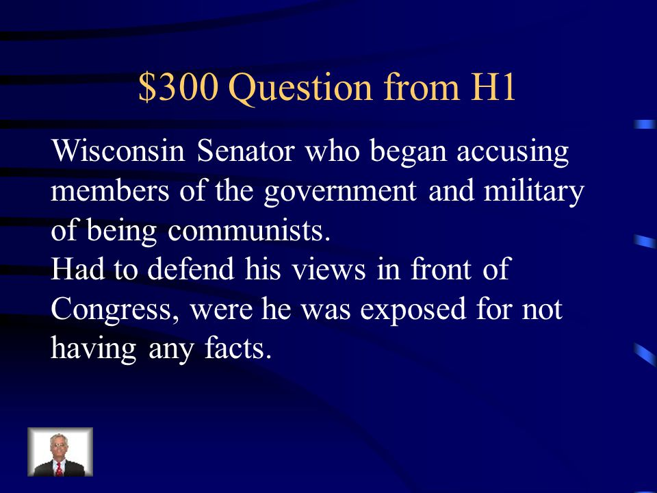 $200 Answer from H1 Bay of Pigs