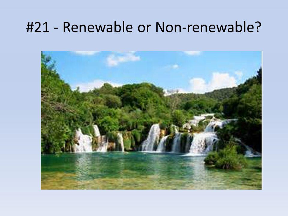 #21 - Renewable or Non-renewable?