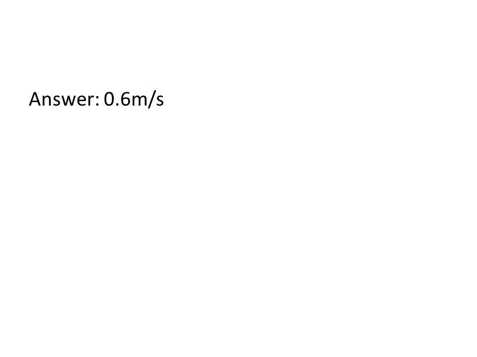 Answer: 0.6m/s