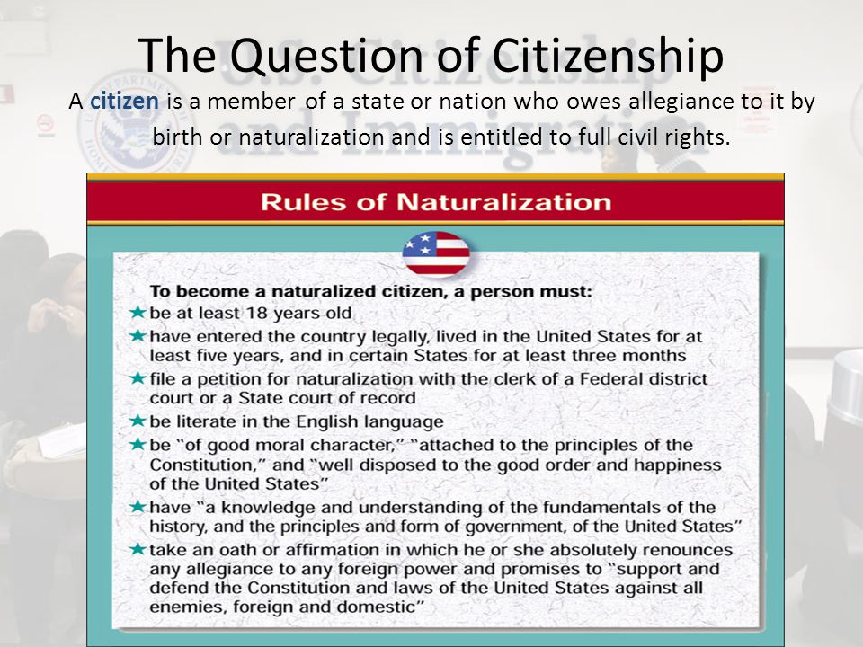 Citizenship by Birth Jus Sanguinis Jus Sanguinis is the law of the blood, or to whom one is born.