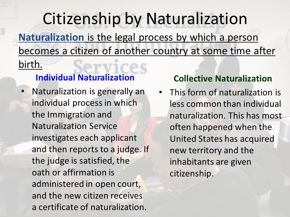 Loss of Citizenship Expatriation Expatriation is the legal process by which a loss of citizenship occurs.