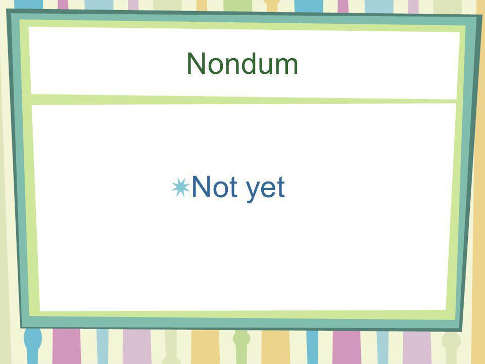 Neque…Neque Neither…nor