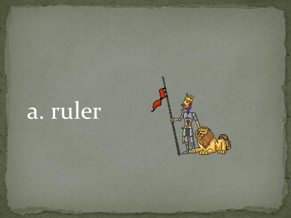 a. ruler