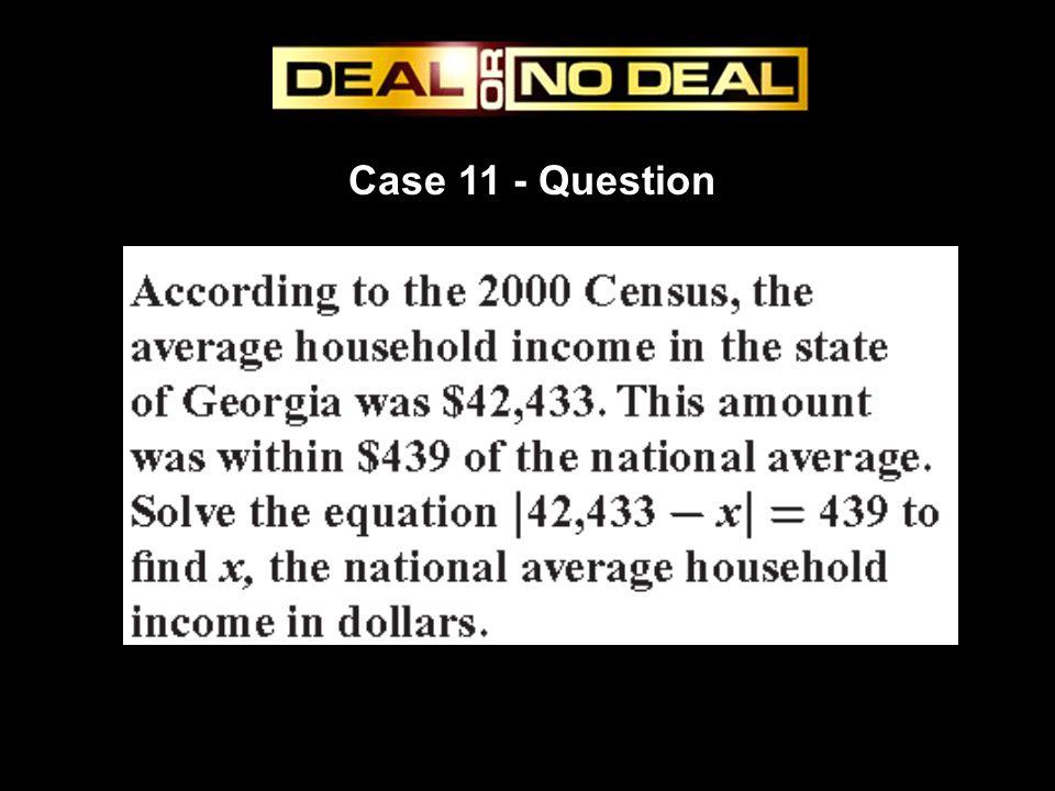 Case 11 - Question