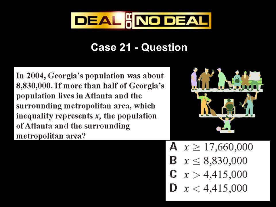 Case 21 - Question
